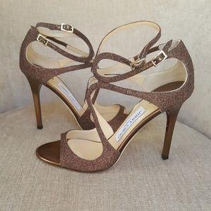 1aa88601db9b93 Jimmy Choo Shoes - NIB Jimmy Choo Bronze Glitter Paloma Lang Sandals